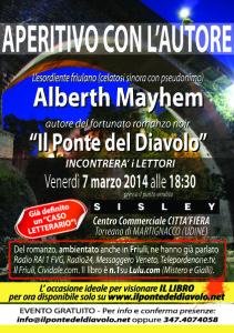 Aperitivo con Alberth Mayhem - 7.3.2014 - ore 10:30 - Centro Commerciale Città Fiera Torreano di Martignacco - UDINE - Negozio abbigliamento SISLEY