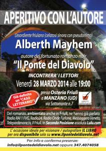 Alberth Mayhem a Manzano - Spritz Letterario