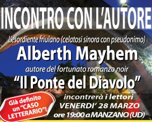 Alberth Mayhem a Manzano - incontro con i lettori