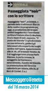 Articolo del Messaggero Veneto