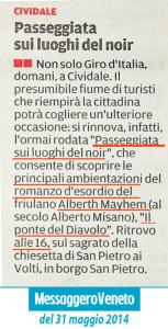"""Passeggiata sui luoghi che hanno ispirato il romanzo """"Il Ponte del Diavolo"""" di Alberth Mayhem parzialmente ambientato a Cividale del Friuli"""
