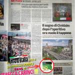 Giro d'Italia 2014: la tappa finale (Gemona-Trieste) passa sul Ponte del Diavolo a Cividale del Friuli