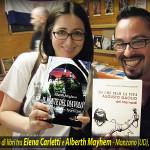 Scambio di libri tra i due autori Elena Carletti e Alberth Mayhem