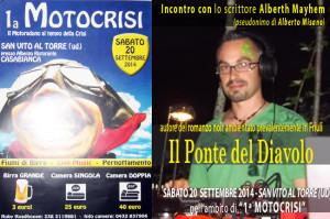 "Alberth Mayhem al motoraduno ""Motocrisi"" a San Vito al Torre (UD)"