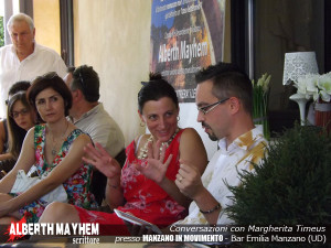 "La giornalista Margherita Timeus presenta il libro di Mayhem all'interno di ""Manzano in Movimento"""