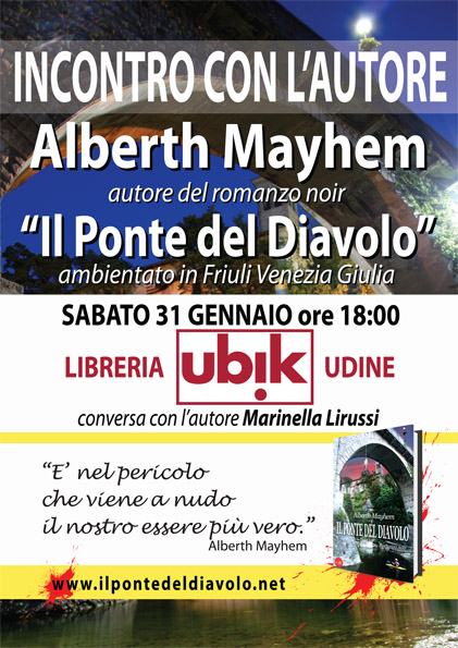 Alberth Mayhem alla libreria UBIK - UDINE