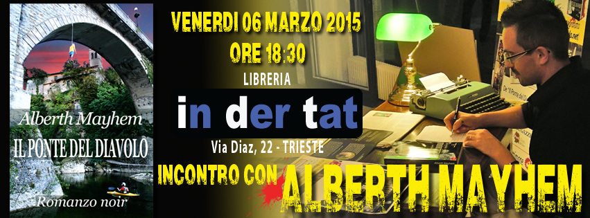 Alberth Mayhem alla libreria Indertat a Trieste