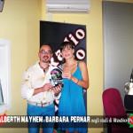 Negli studi di Radio Punto Zero Tre Venezie con Barbara Pernar