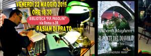 """Alberth Mayhem alla biblioteca """"Pier Paolo Pasolini"""" a Pasian di Prato (UDINE)"""
