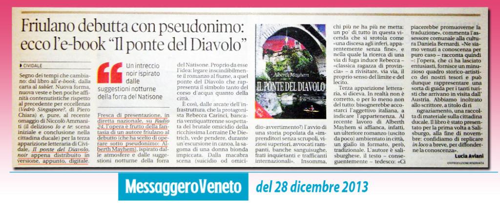 """Alberth Mayhem debutta con l'ebook """"Il Ponte del Diavolo"""""""