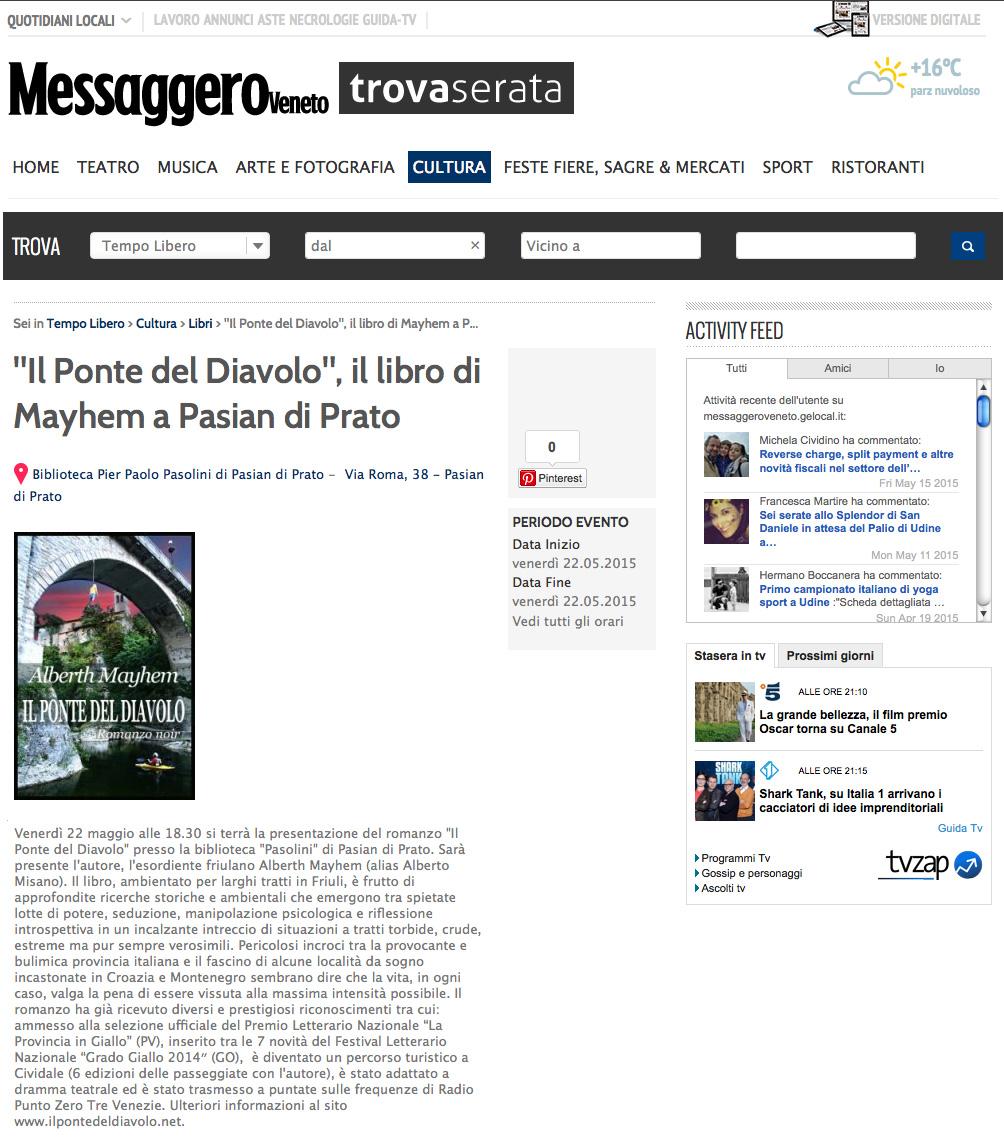 Alberth Mayhem alla biblioteca di Pasian di Prato (UD)